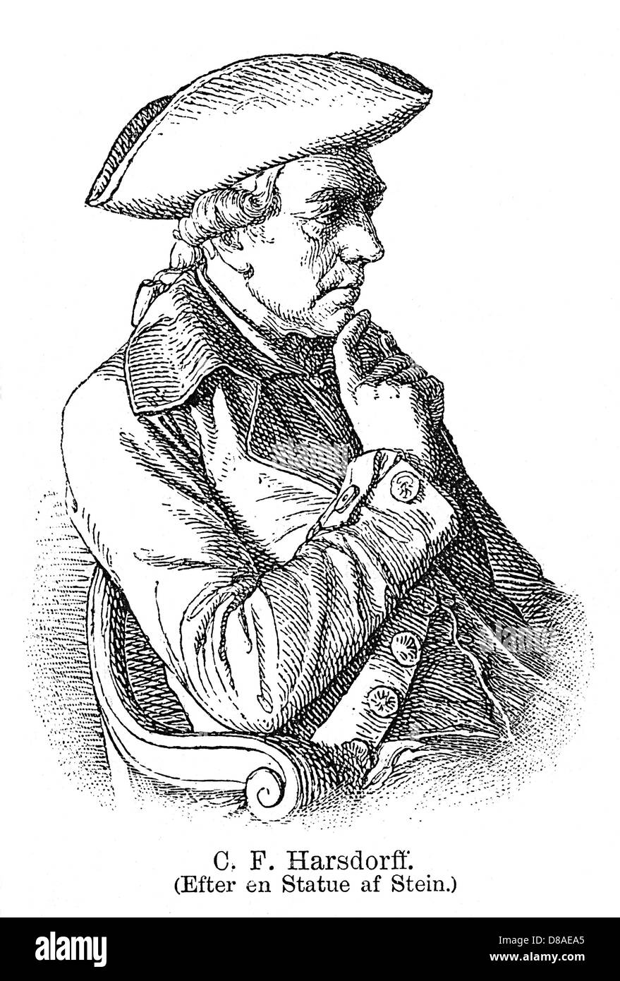 Caspar Fred. Harsdorff - Stock Image