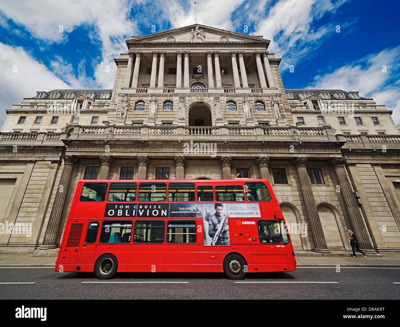 The Bank of England, Threadneedle Street, London, England, United Kingdom. - Stock Image