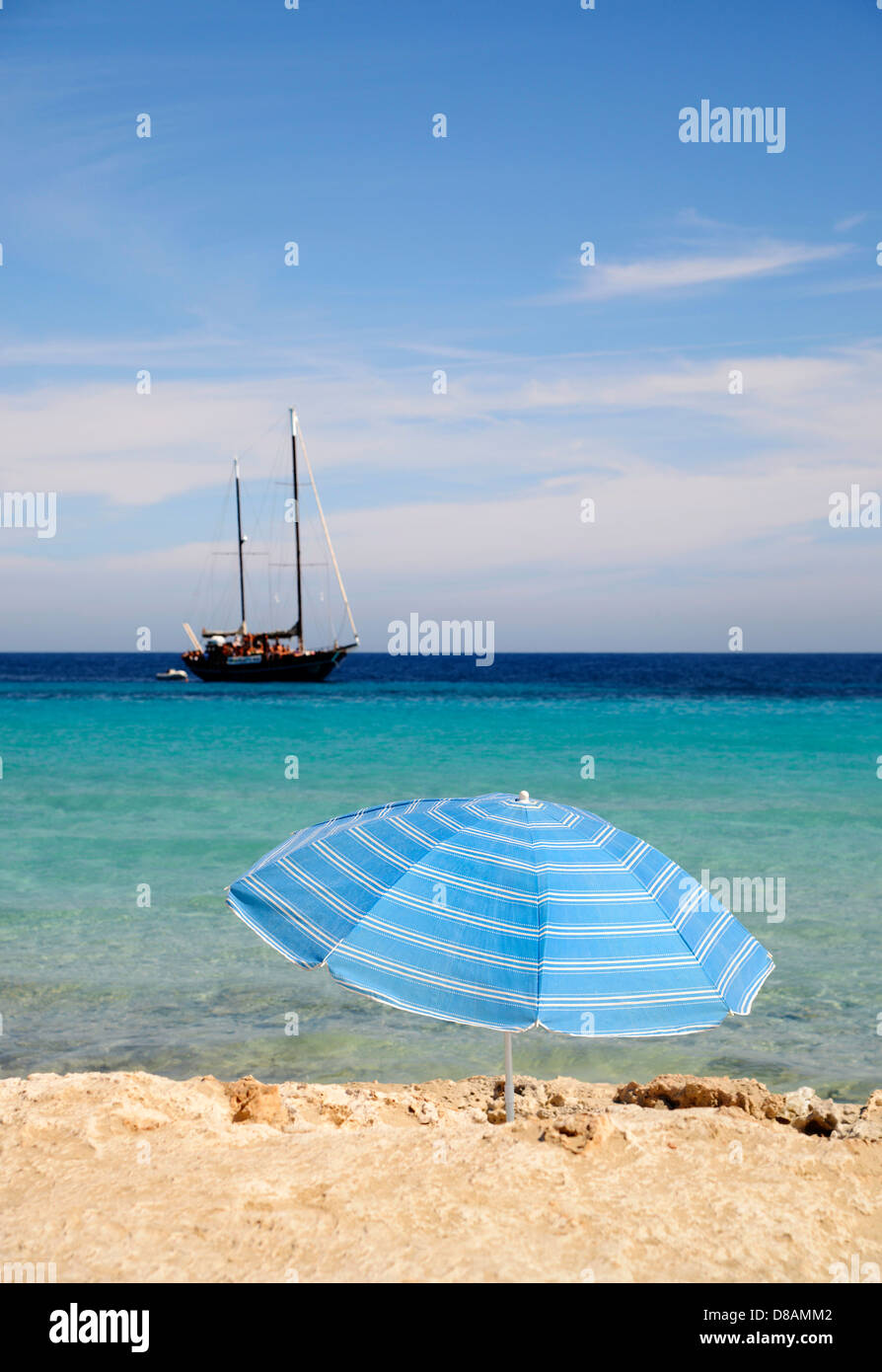Playa de ses Illetes, Formentera, Balearic Islands, Spain - Stock Image
