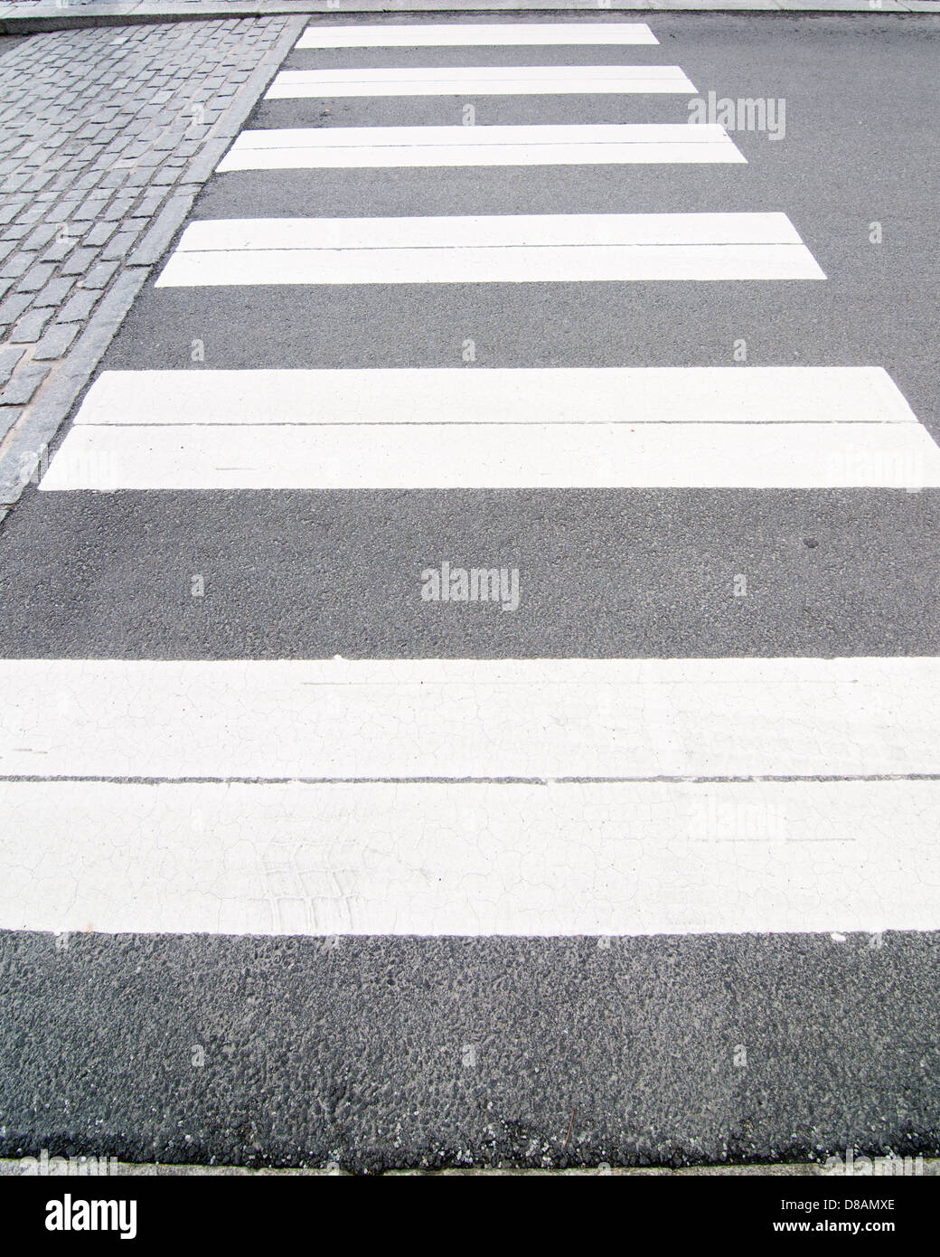 The picture of a crosswalk - Stock Image