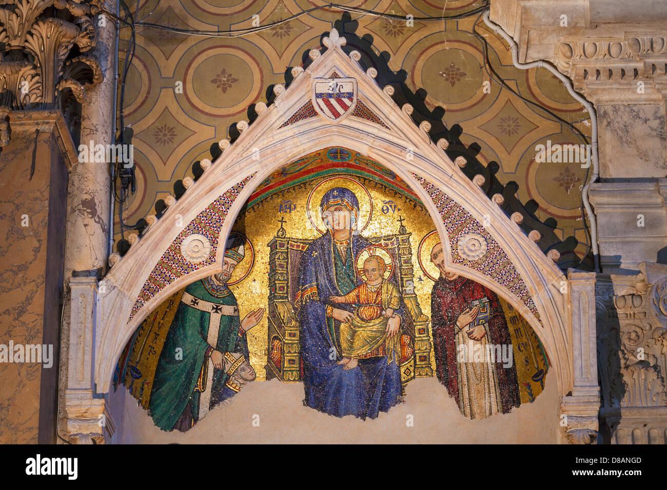 Tomb of bishop William Durand by Giovanni di Cosma, basilica of Saint Mary above Minerva, Santa Maria sopra Minerva, - Stock Image