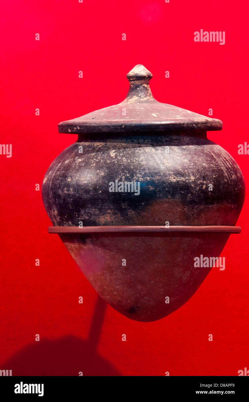 Antique Clay ceramic pot - Stock Image