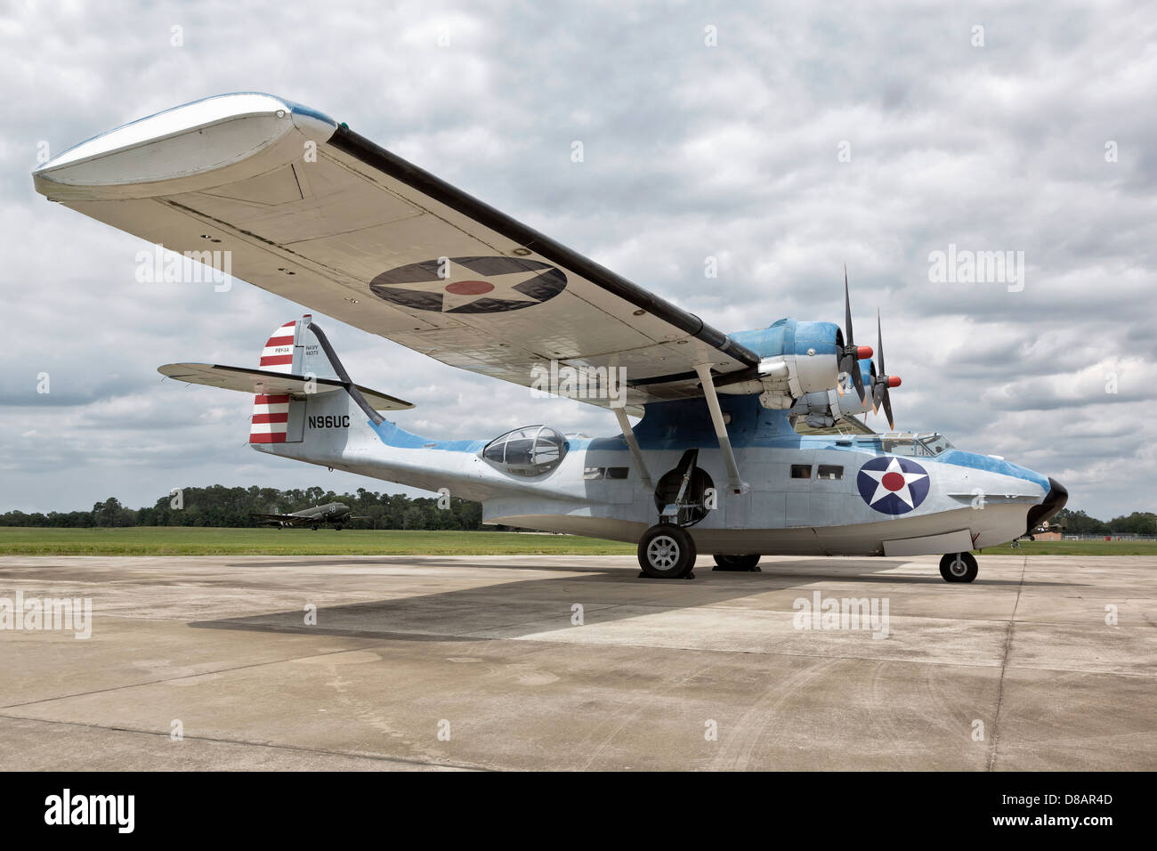 Consolidated PBY5 Catalina of the US Navy - Stock Image