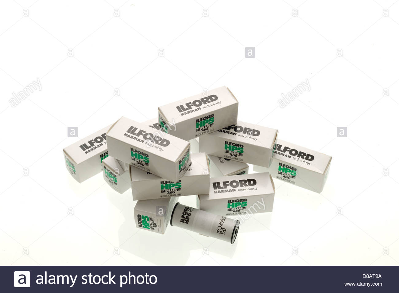 Rolls of Ilford film Stock Photo