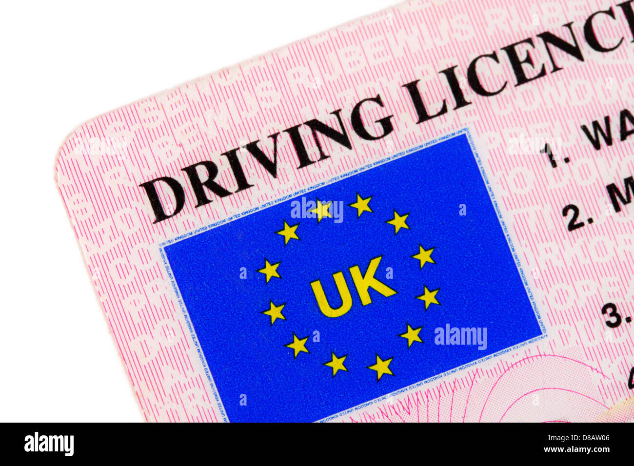 A UK driving licence - Stock Image