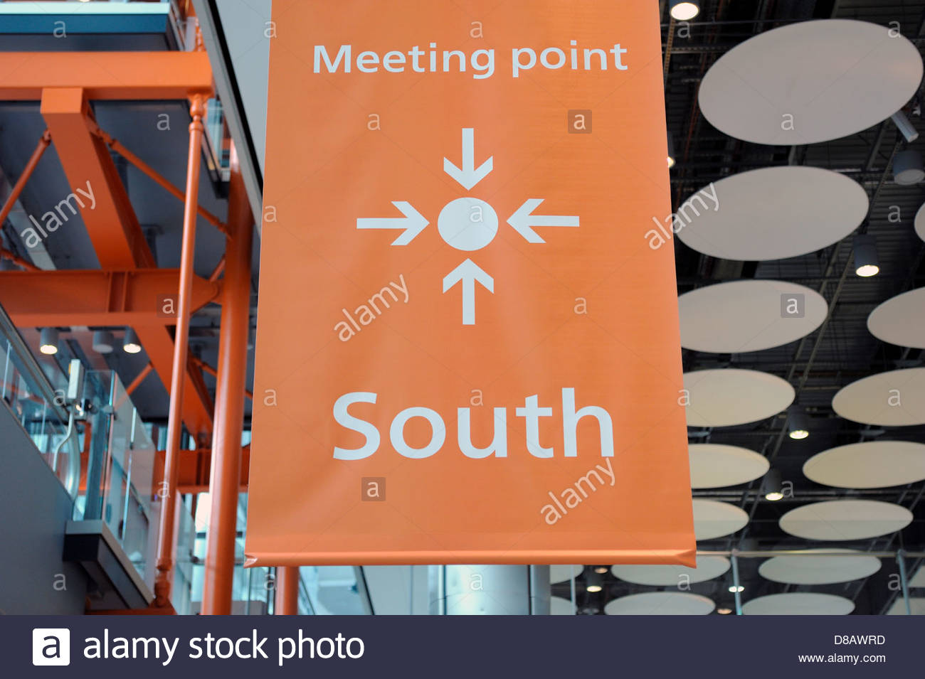 Heathrow Airport Meeting Point at Terminal 5. - Stock Image