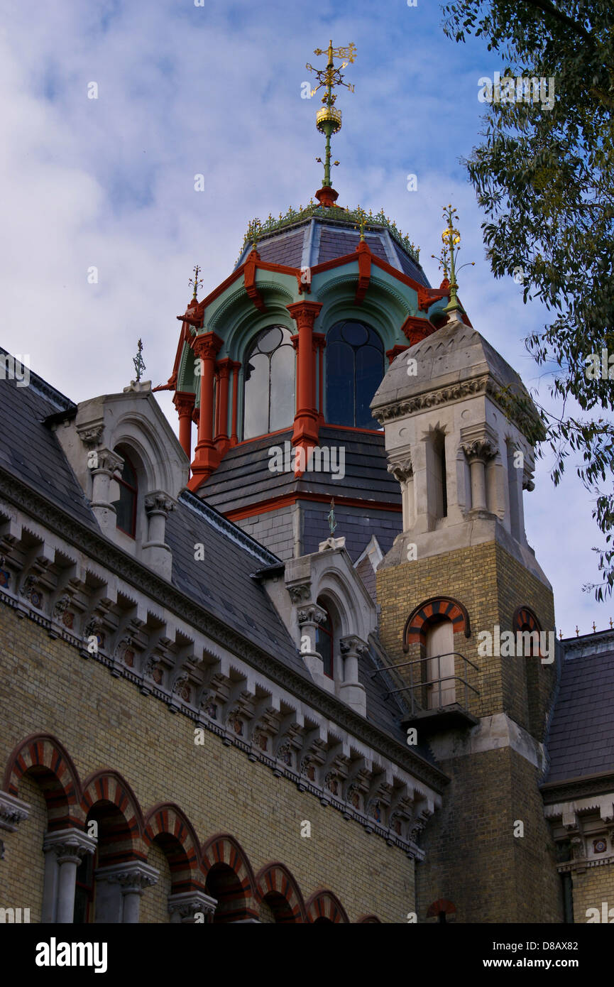 Lantern of  Abbey Mills sewage pumping station 1868 by Joseph Bazalgette and Edmund Cooper, Stratford, London, England - Stock Image