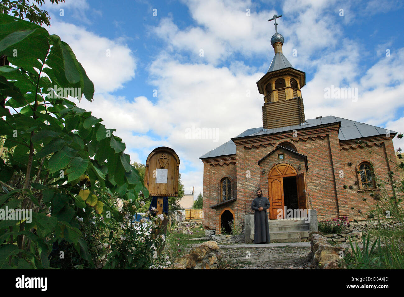 Ust Kamenogorsk region, Rider town - Russian orthodox church - Stock Image