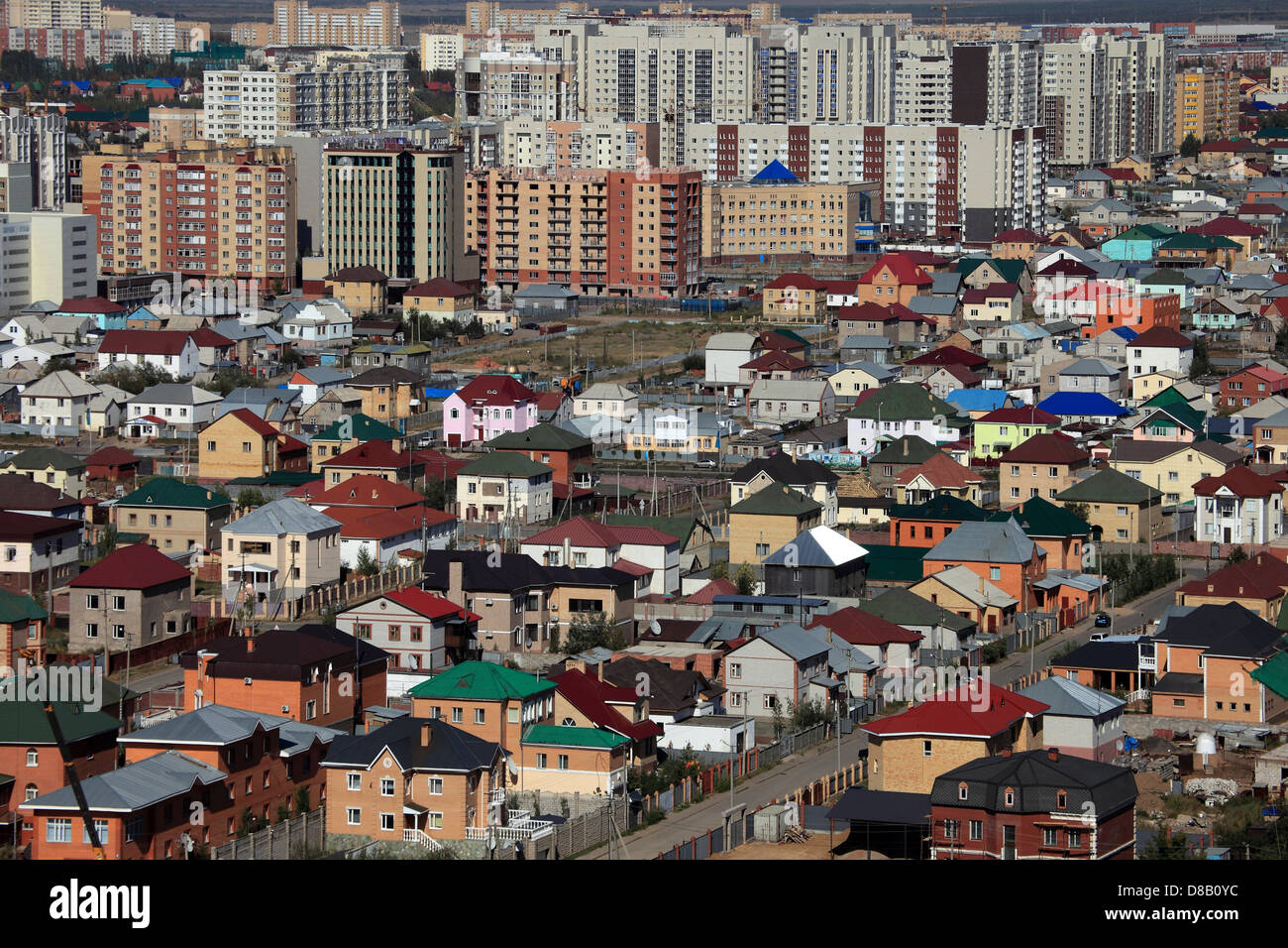 Astana - dwelling houses district - Stock Image