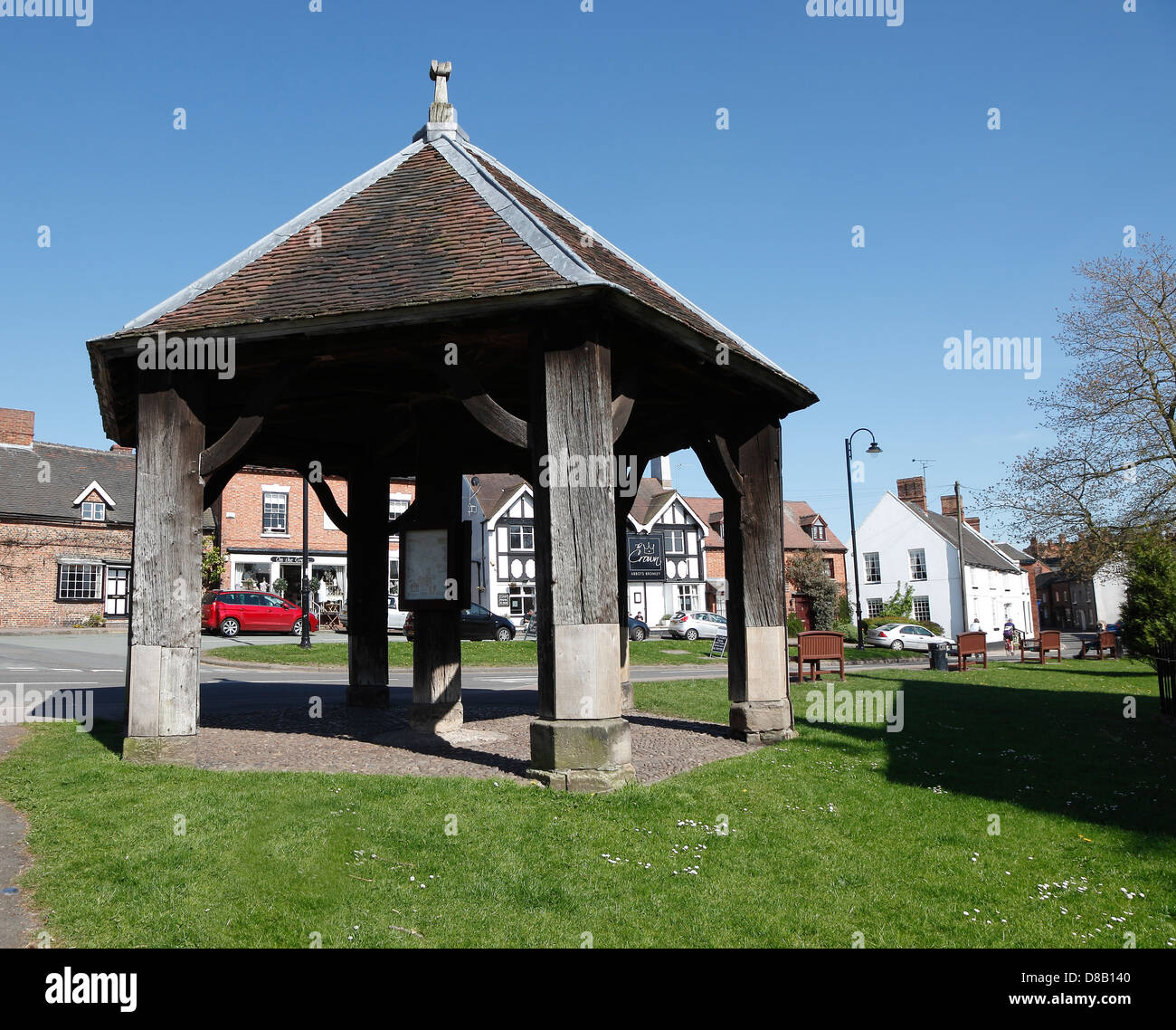 Butter Cross Abbots Bromley Staffordshire England Great Britain - Stock Image