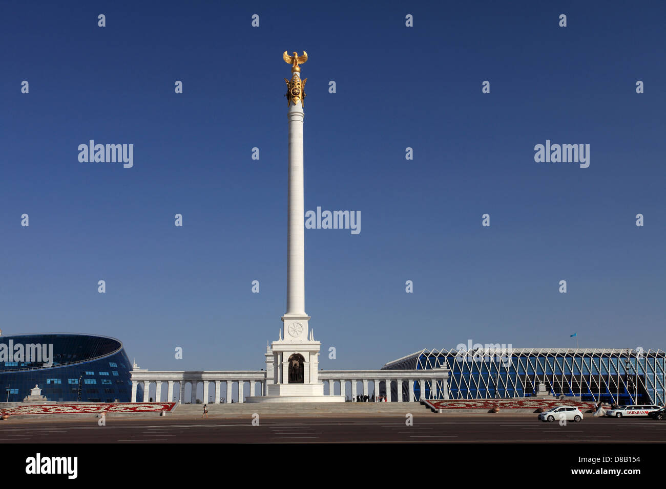 Astana - monument of independence of Kazakhstan - Stock Image