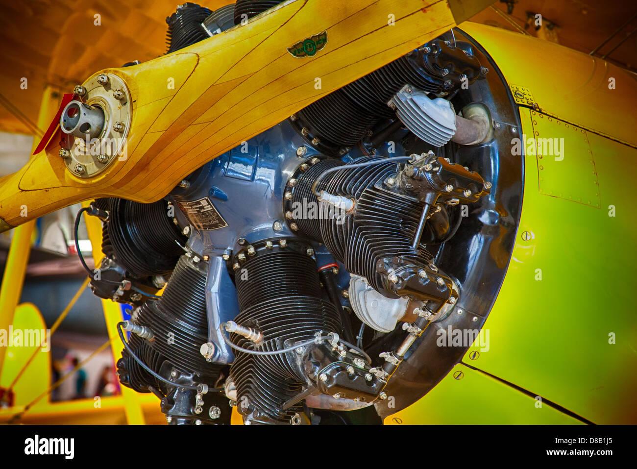 Aircraft propeller engine - Stock Image