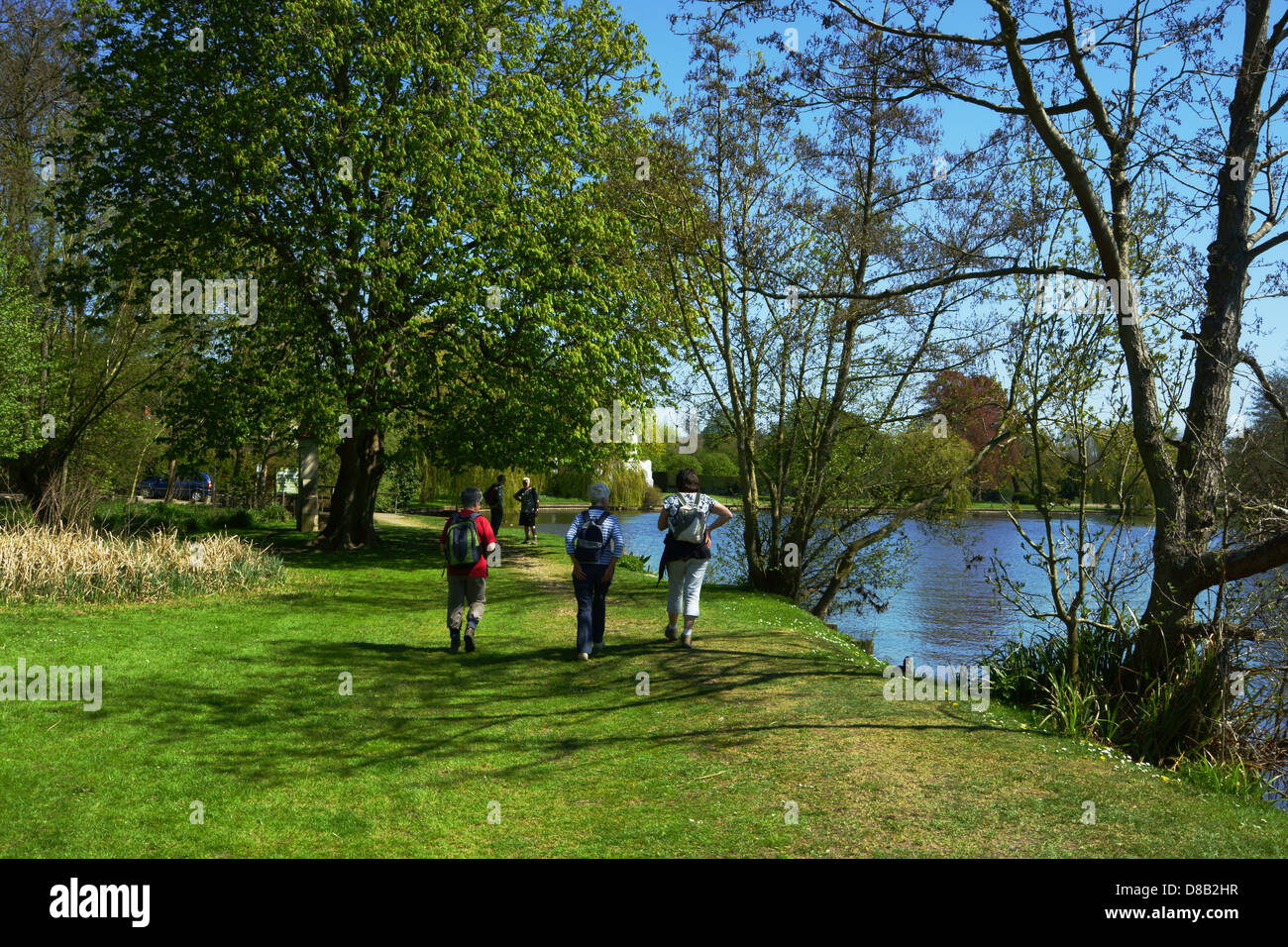 Walkers on the Thames Path Stock Photo