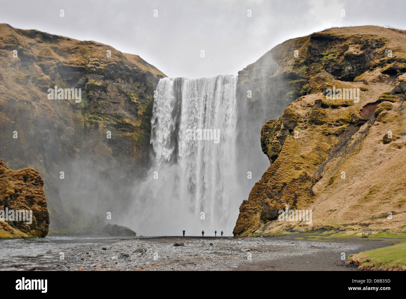 Skogafoss waterfall, South Iceland, Europe Stock Photo