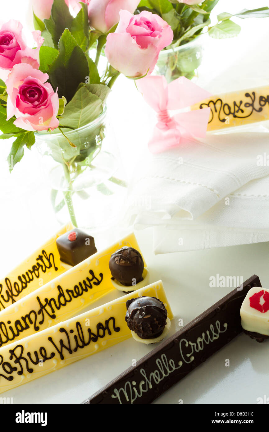 Personolized Guest Chocolate Name Plate For The Wedding