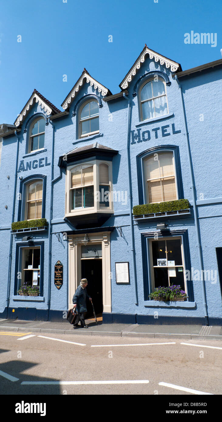 Exterior view of the Angel Hotel on Rhosmaen Street Llandeilo Carmarthenshire Wales UK - Stock Image