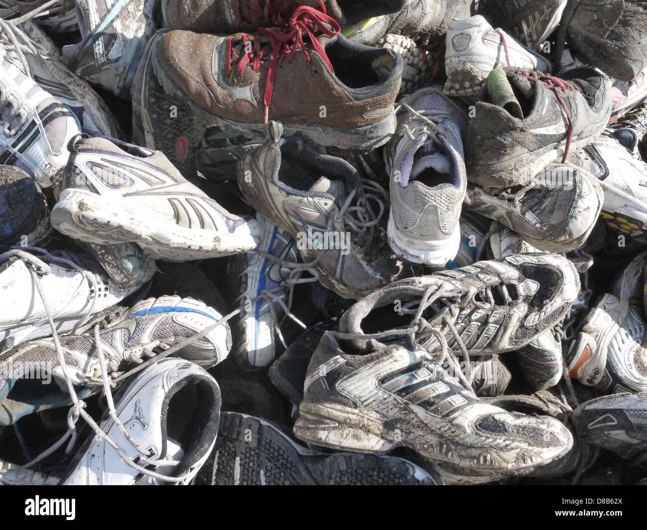 garbage dirty landfill - Stock Image