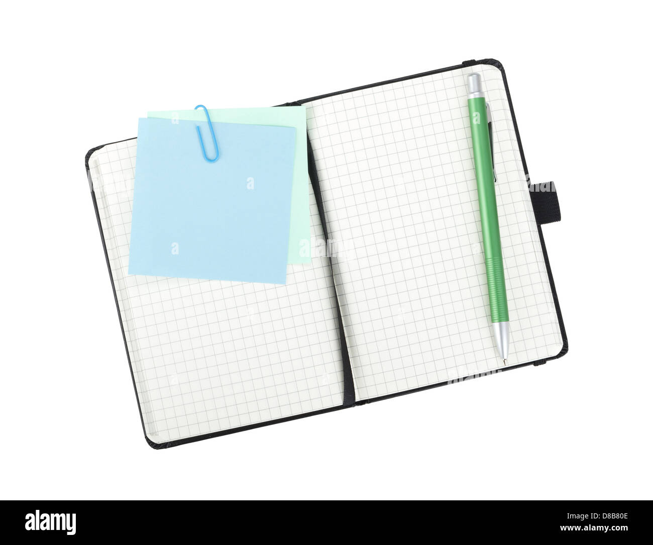 Office supplies. View from above. Isolated on white background Stock Photo
