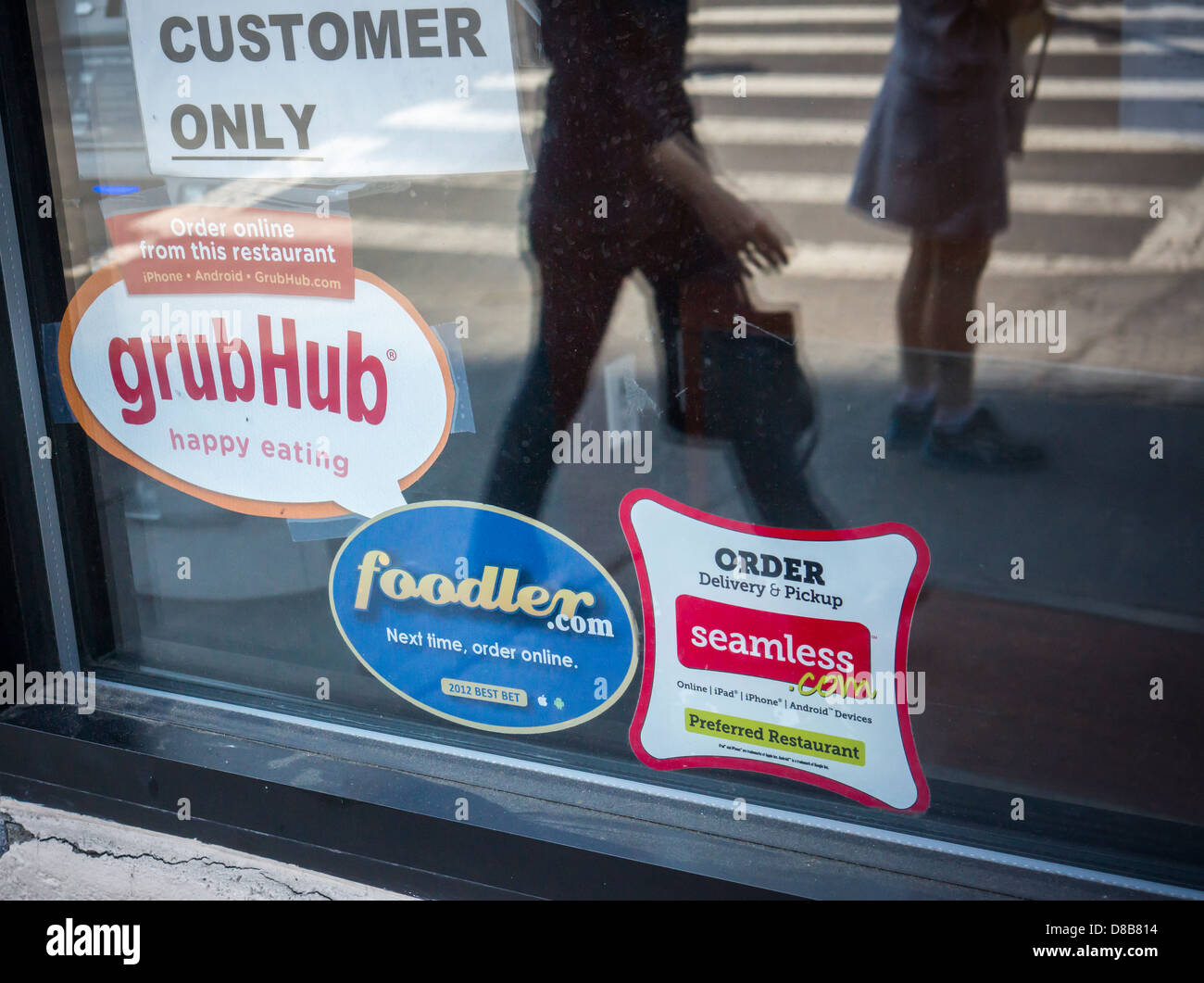 Stickers For Seamless And Grubhub Internet Food Delivery Services