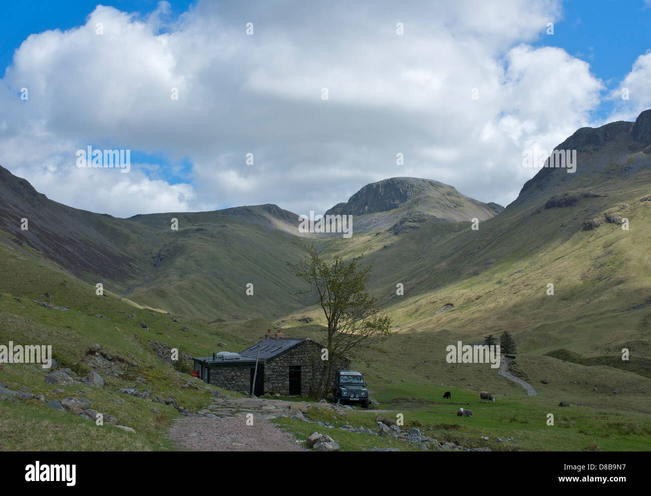 Black Sail hut, at the head of the Ennerdale Valley, Lake District National Park, Cumbria, England UK - Stock Image