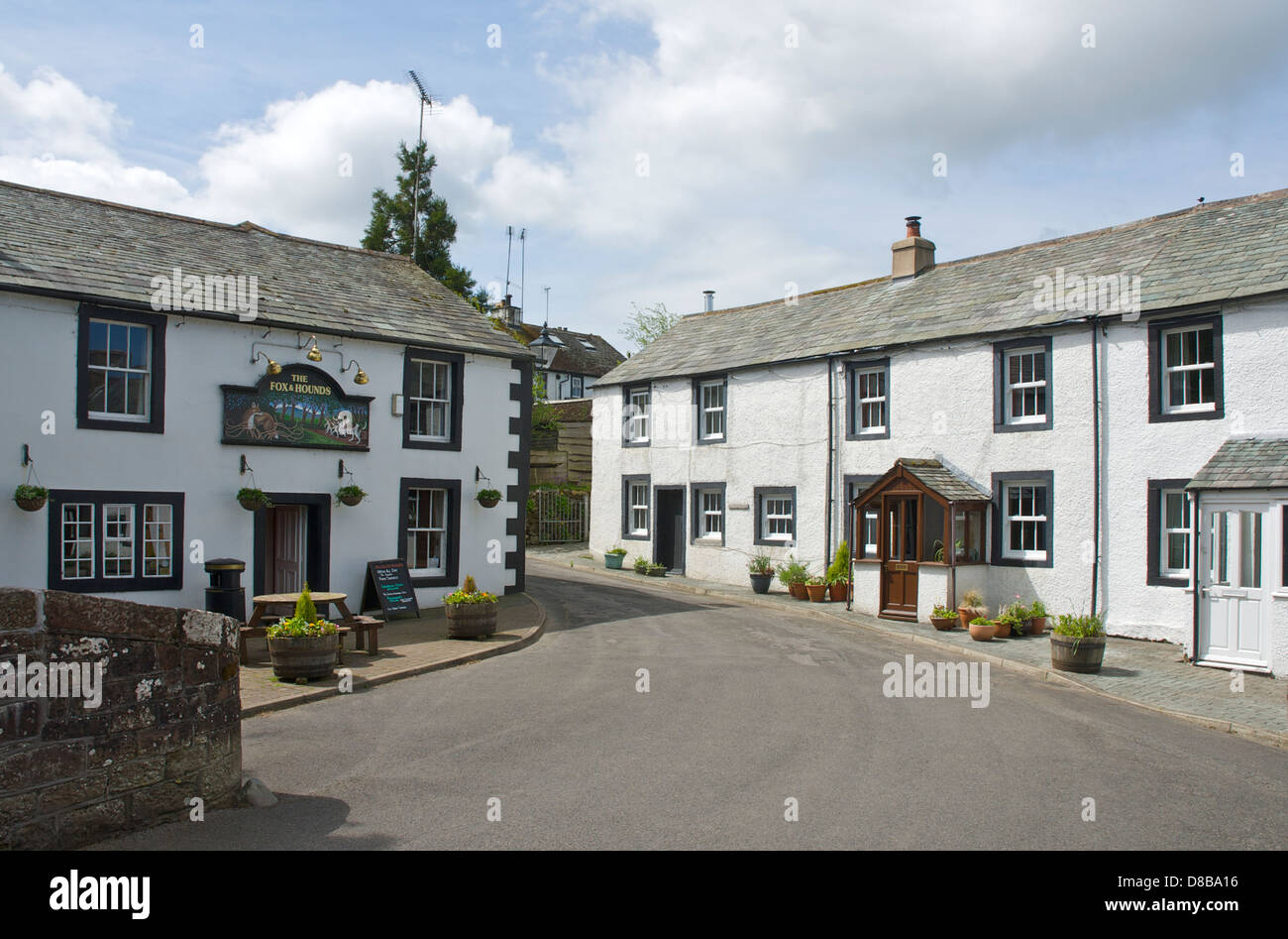 The Fox & Hounds pub in the village of Ennerdale Bridge, West Cumbria, England UK - Stock Image