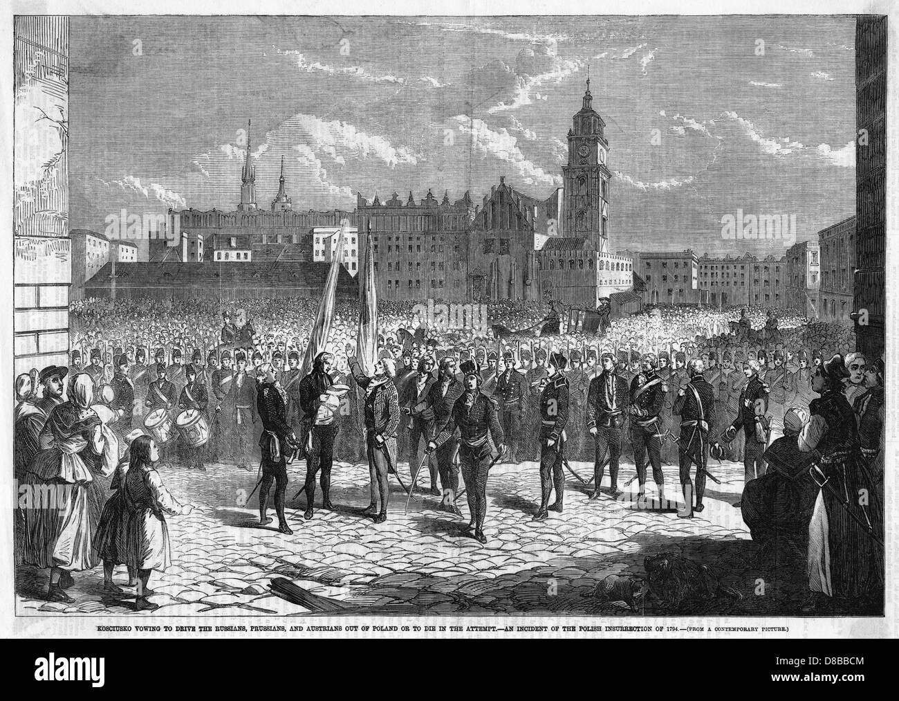 Polish Insurrection 1794 - Stock Image
