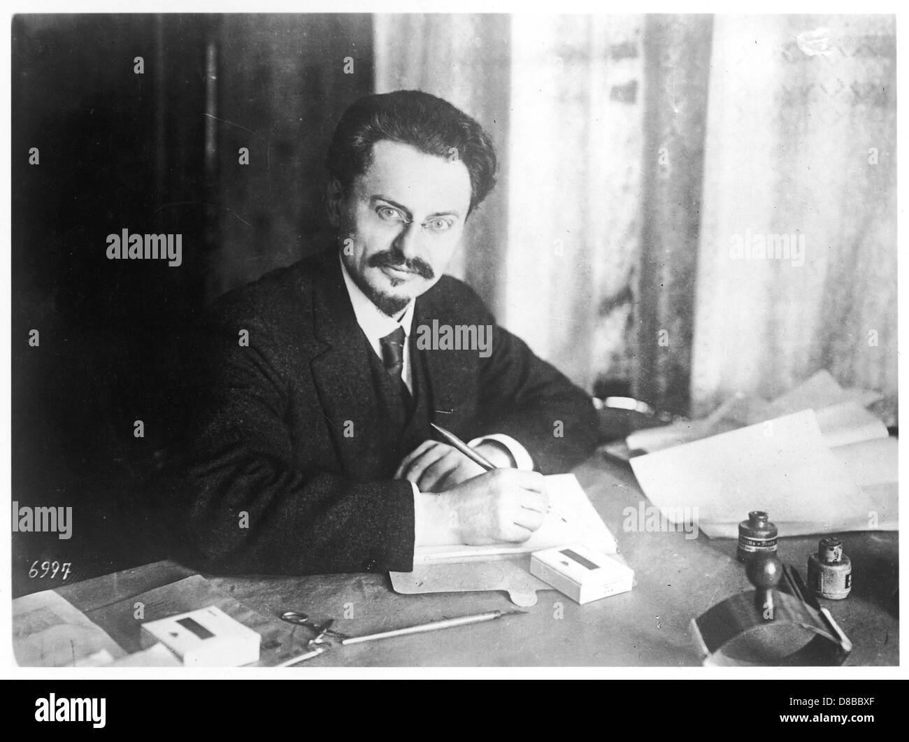 Trotsky At Desk - Stock Image