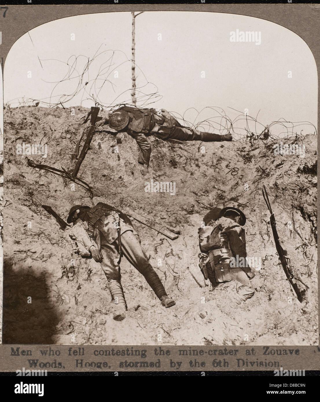 Fallen Soldiers In Ww1 - Stock Image