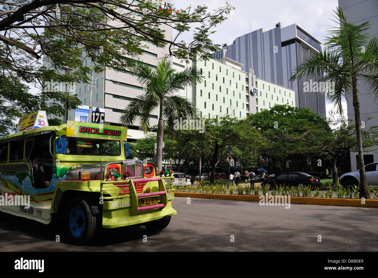 Jeepney I.T. Park Cebu City Philippines - Stock Image