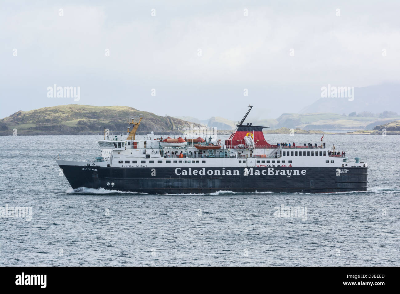 Oban to Craignure Caledonian MacBrayne Ferry, navigating the Sound of Mull, Inner Hebrides, Scotland Stock Photo