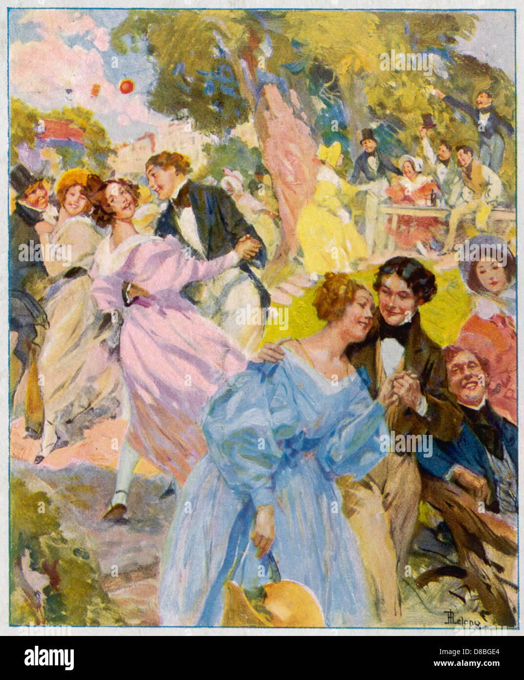 Dance 1830 France - Stock Image