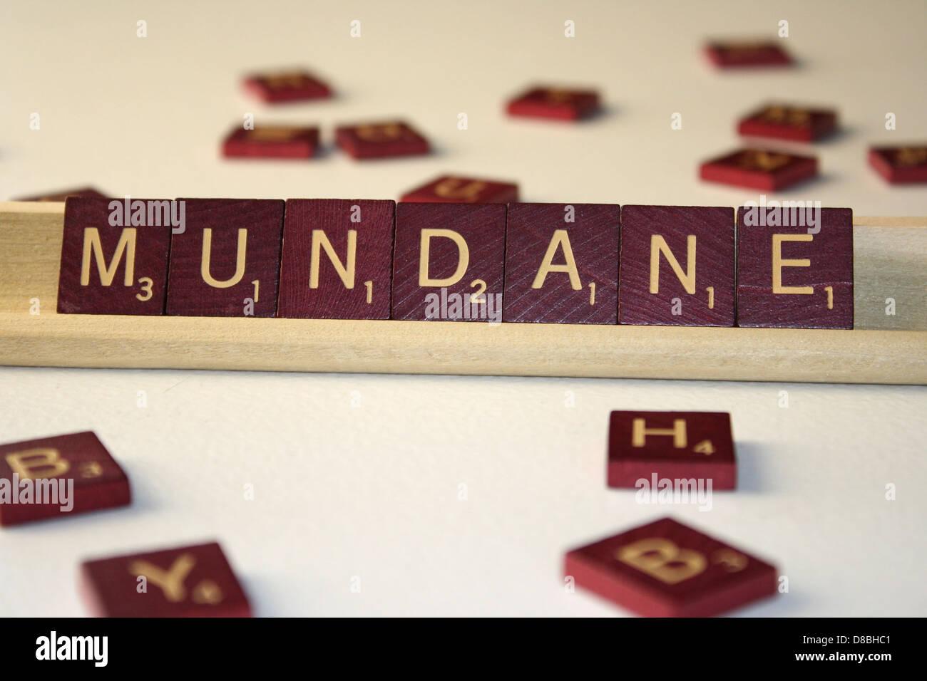 mundane. - Stock Image