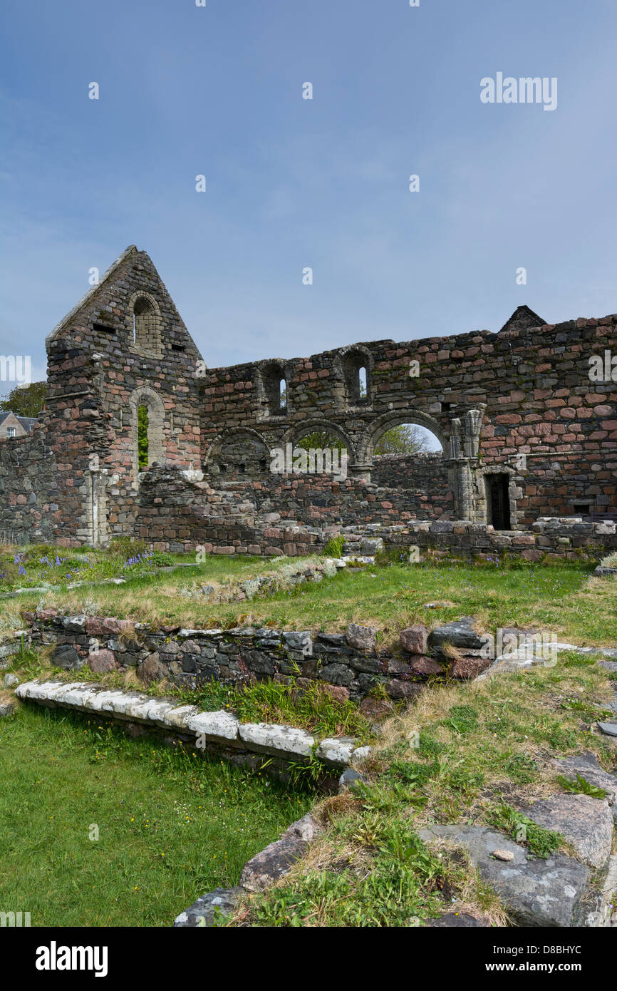 The Nunnery on the Isle of Iona - Stock Image