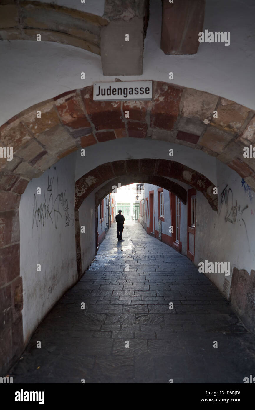 Judengasse street, Trier, Rhineland-Palatinate, Germany, Europe - Stock Image