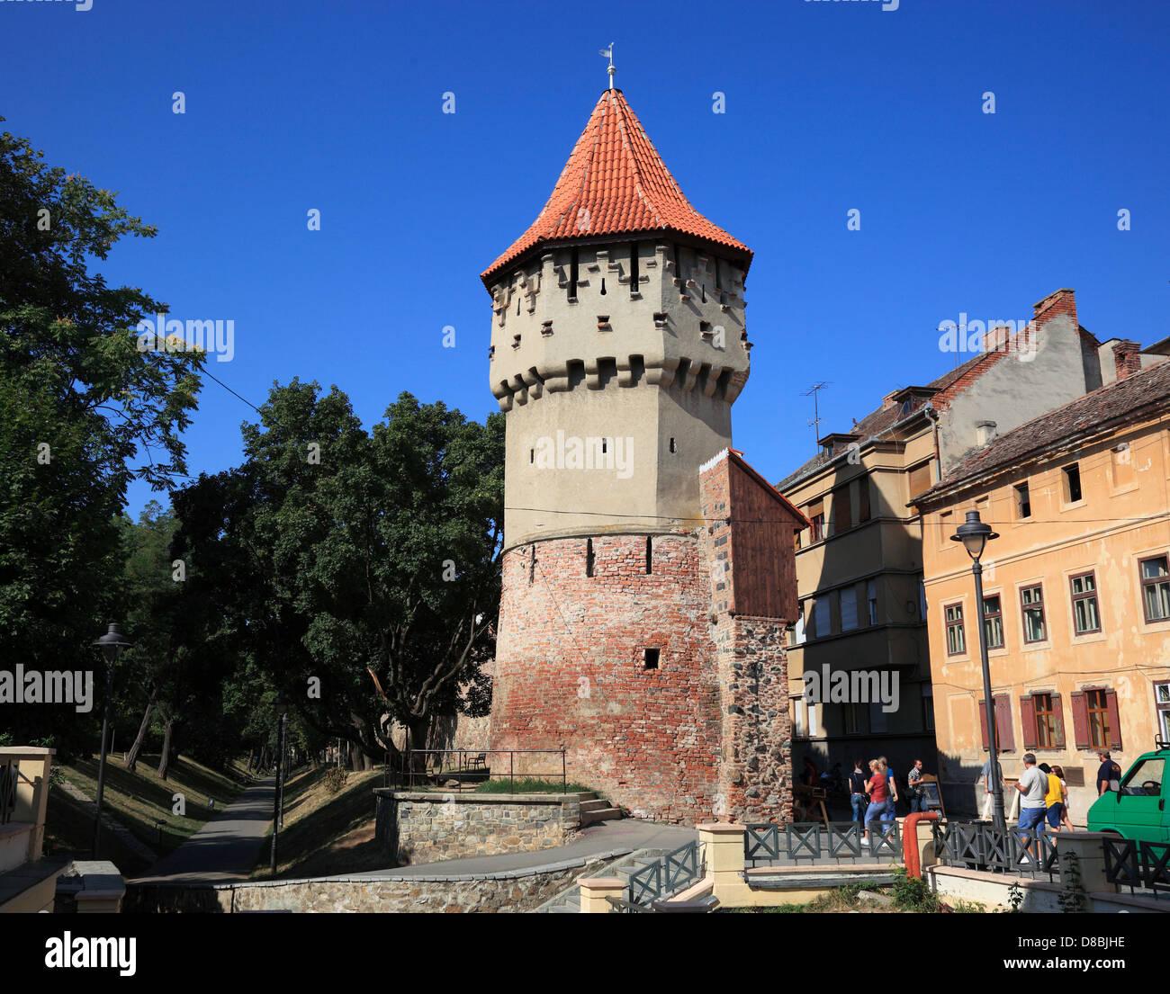 Tower of the Haller Bastion, Sibiu, Romania - Stock Image