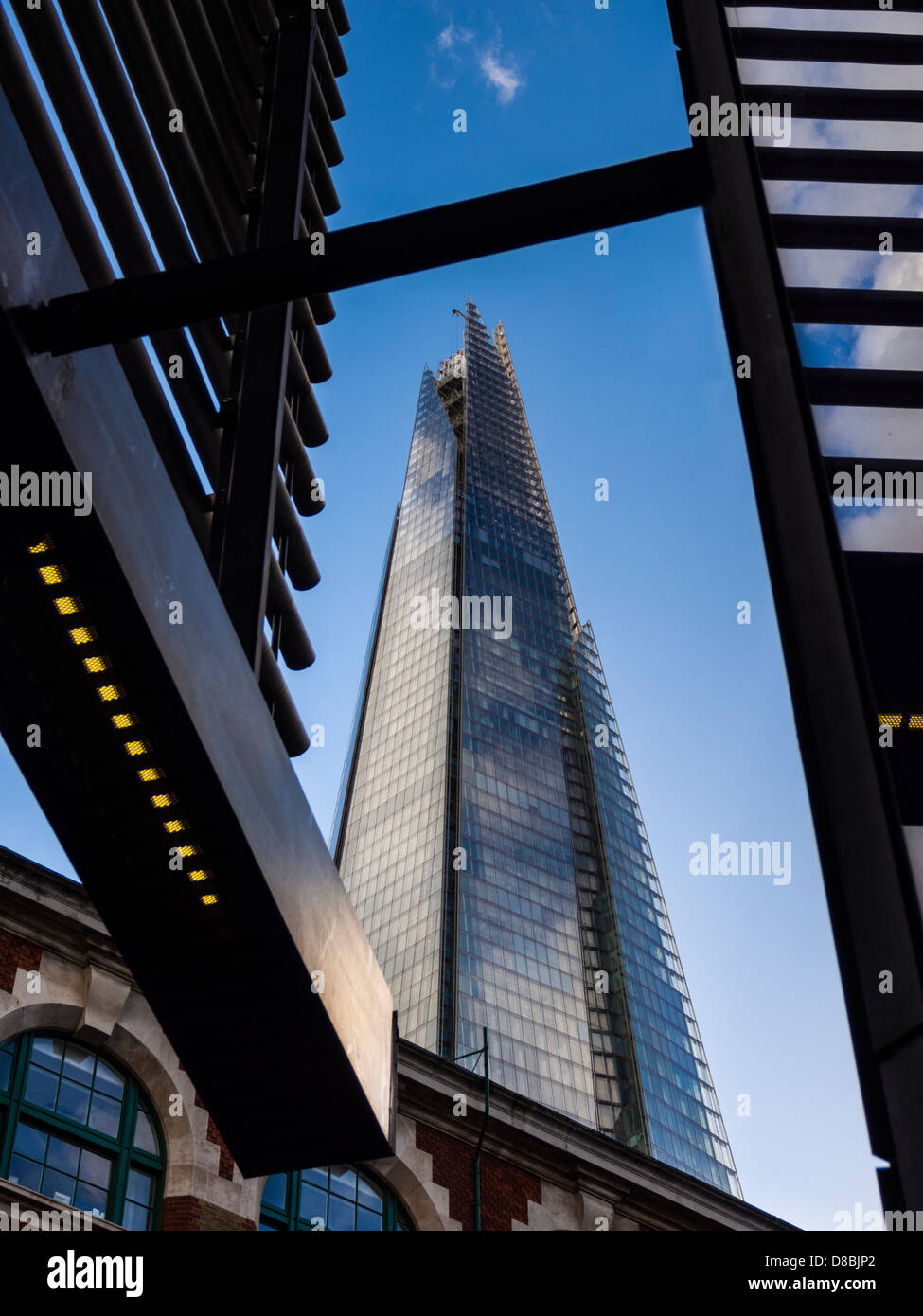 England, London, London Bridge Quater. The Shard Glass towerdesigned by renzo Piano - Stock Image