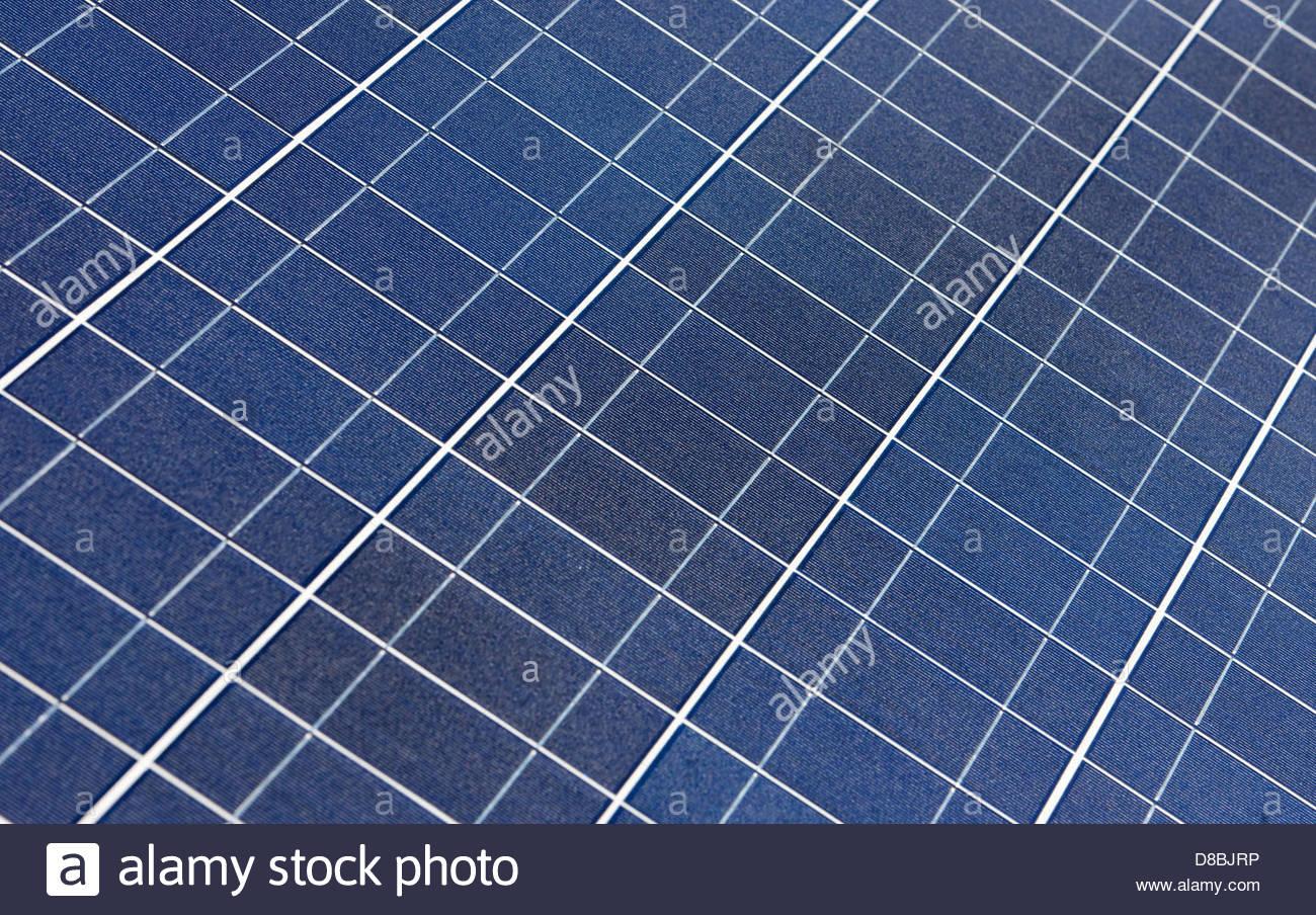 High angle view of solar panels - Stock Image