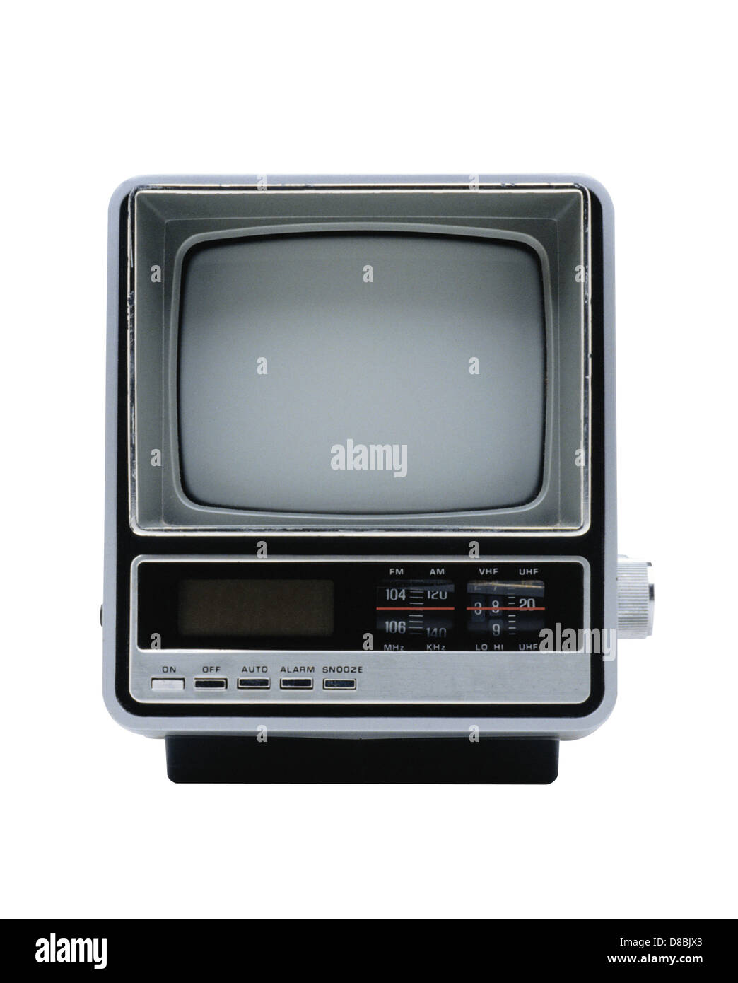 Old Tv Set Isolated Over White Stock Photo 56804667 Alamy