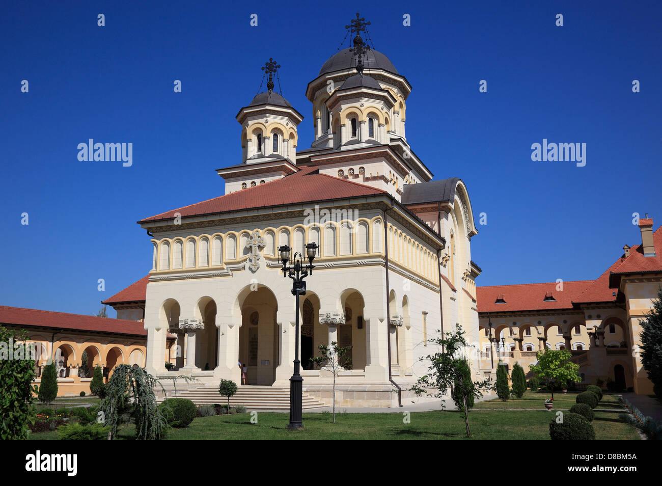 coronation cathedral of the Romanian Orthodox Church, Alba Iulia, Balgrad, Transylvania, Romania. Stock Photo