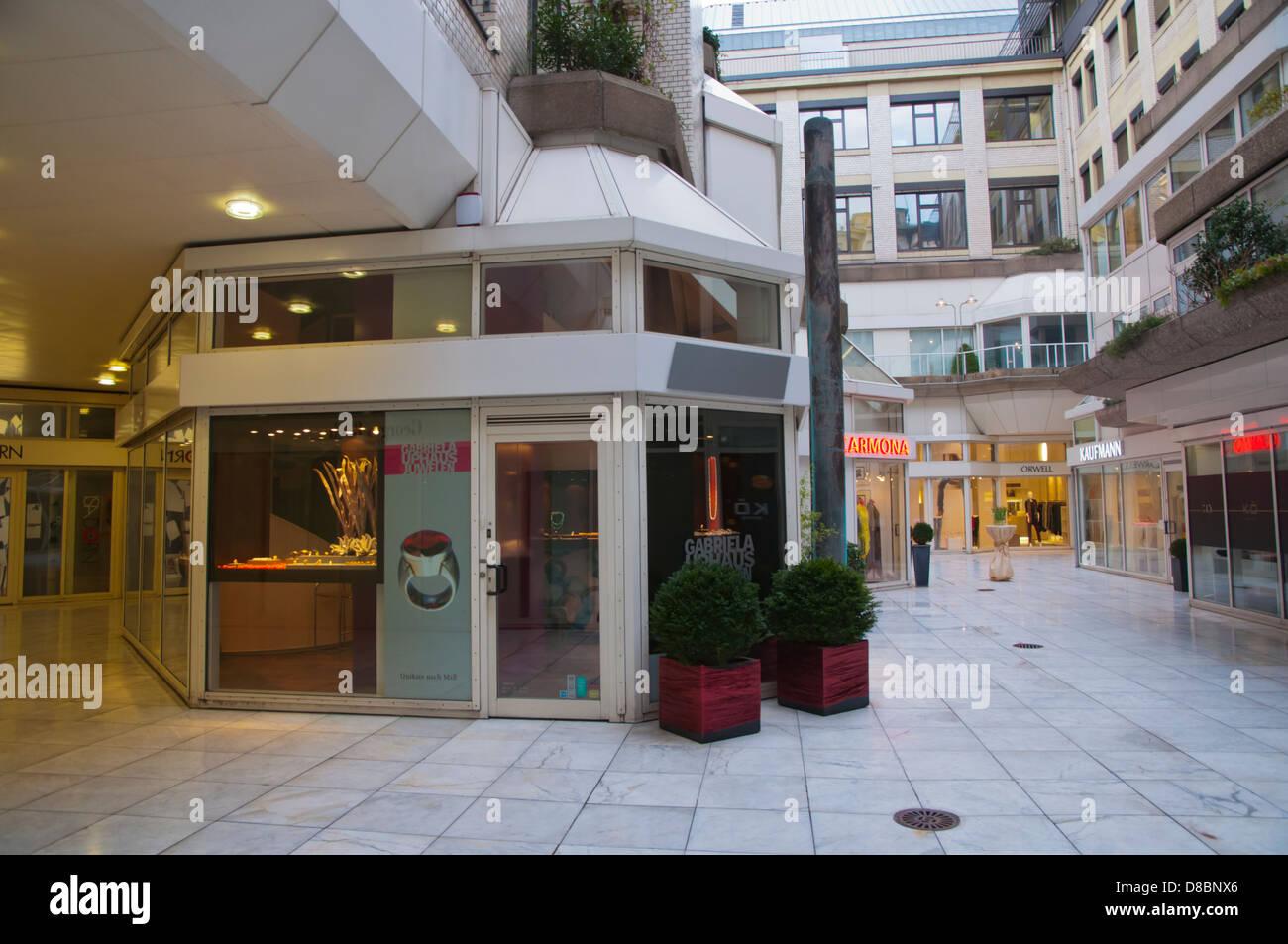 WZ center shopping entertainment complex along Königsallee central Dusseldorf city North Rhine Westphalia region - Stock Image