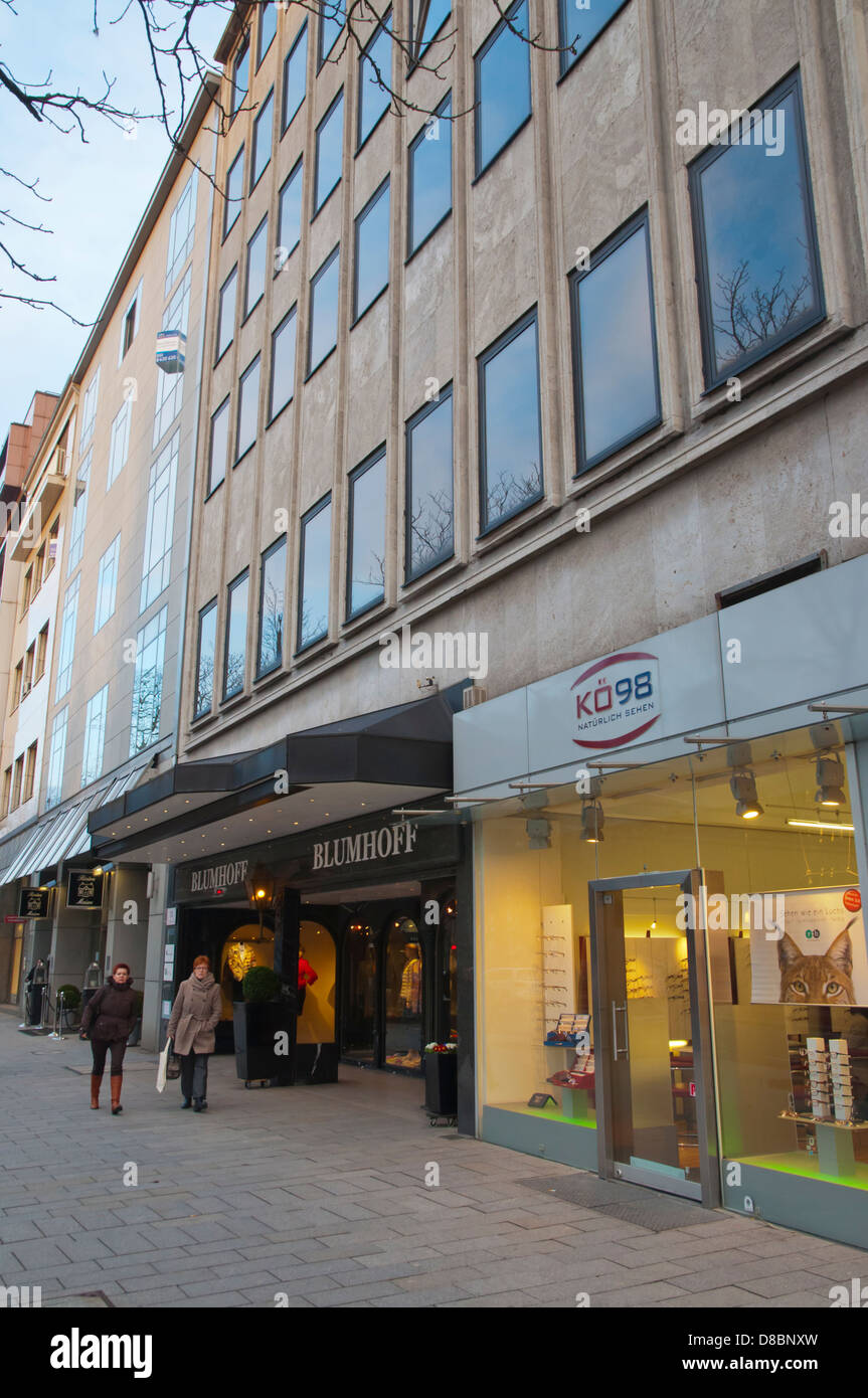 Königsallee main shopping street Stadtmitte central Dusseldorf city North Rhine Westphalia region western Germany - Stock Image