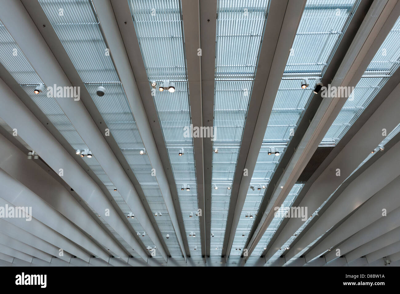 Interior of the Louvre-Lens museum designed by Japanese architects SANAA Stock Photo
