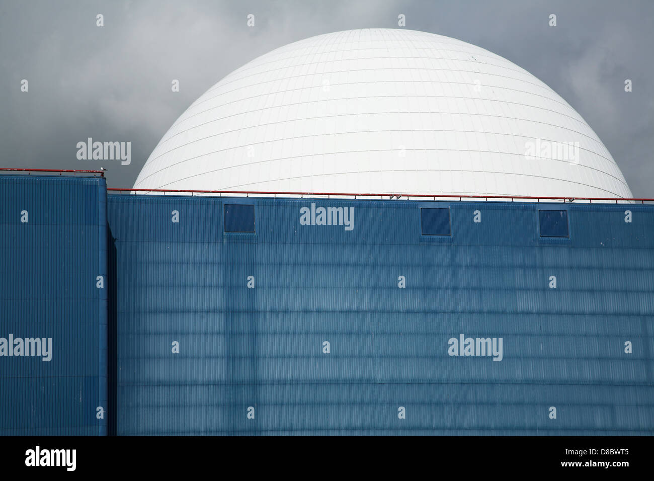 White dome Sizewell B nuclear reactor power station Suffolk England - Stock Image