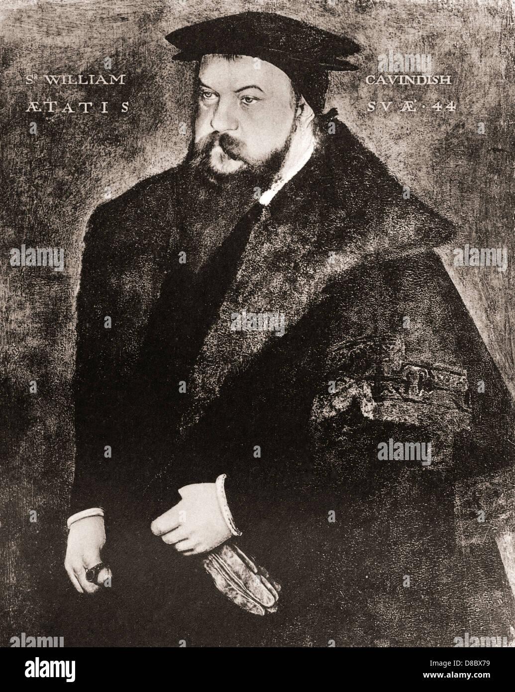 Sir William Cavendish, c.1505 –1557. English courtier. - Stock Image