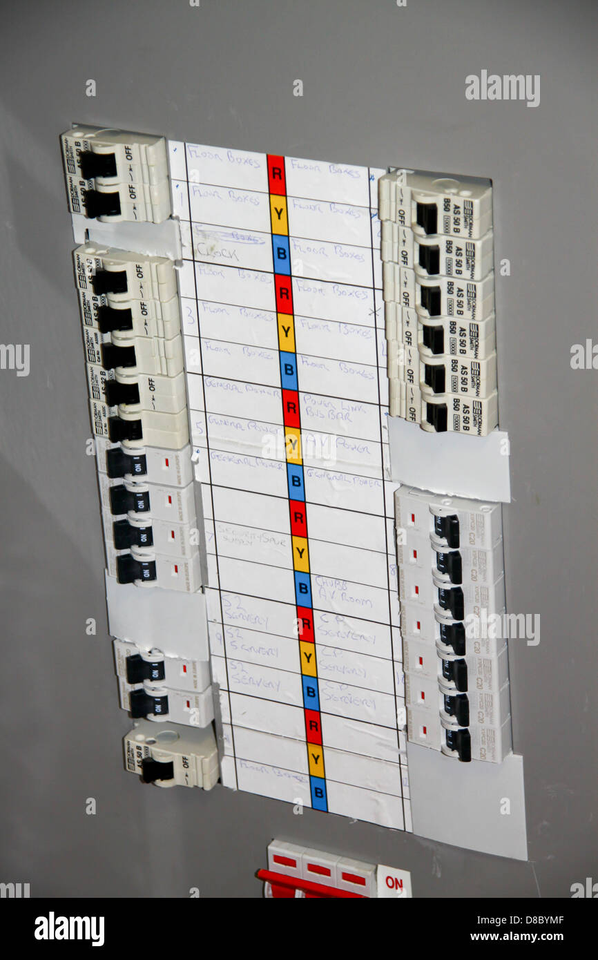 replacing fuse box with circuit breaker cost electrical distribution board stock photos & electrical ...