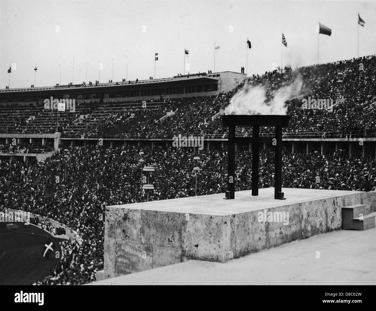 Inauguration of the Olympic Games in Berlin 1936 - the Olympic Flame - Stock Image