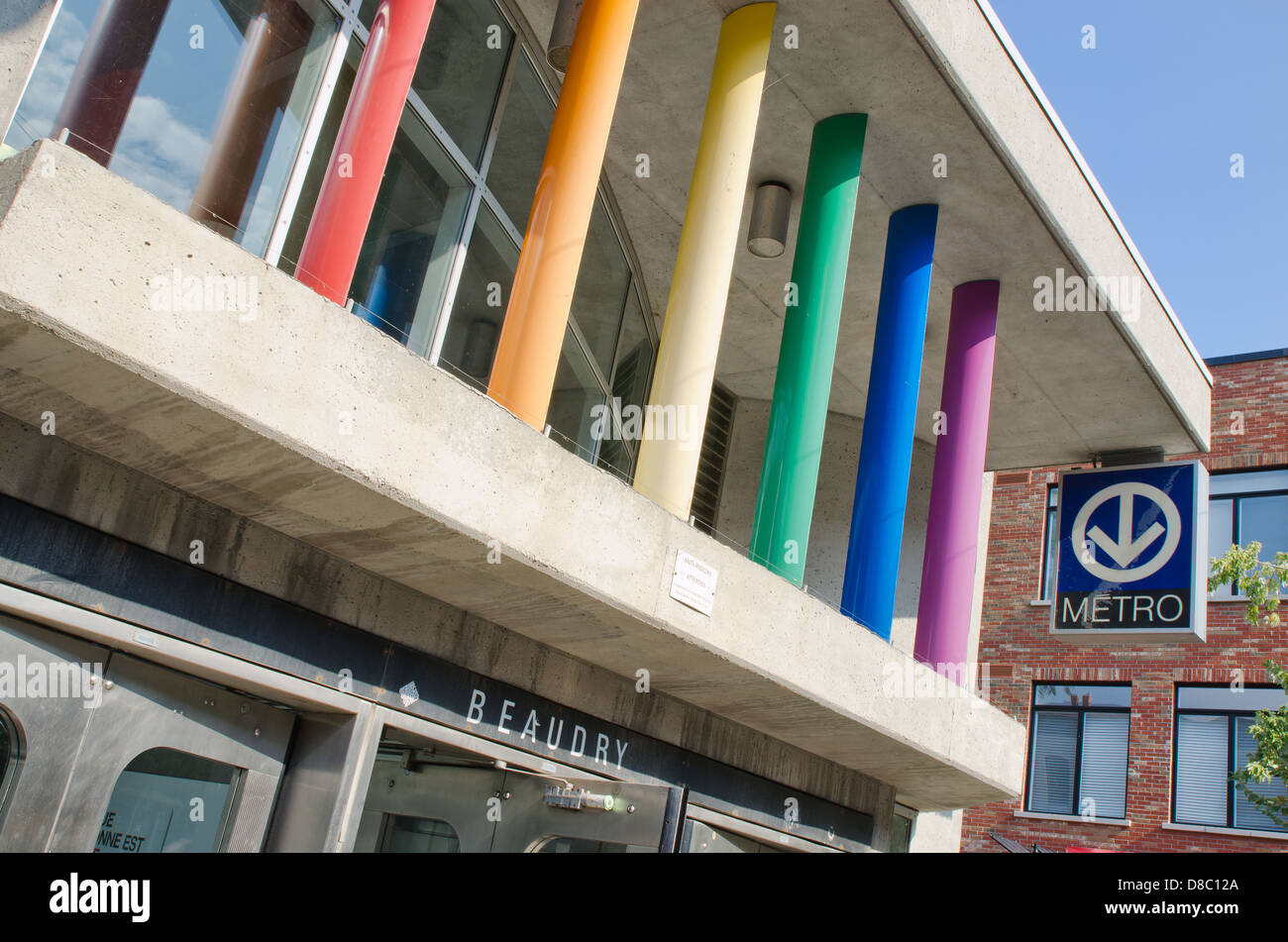 Beaudry Metro Station in Montreal Gay Village - Stock Image