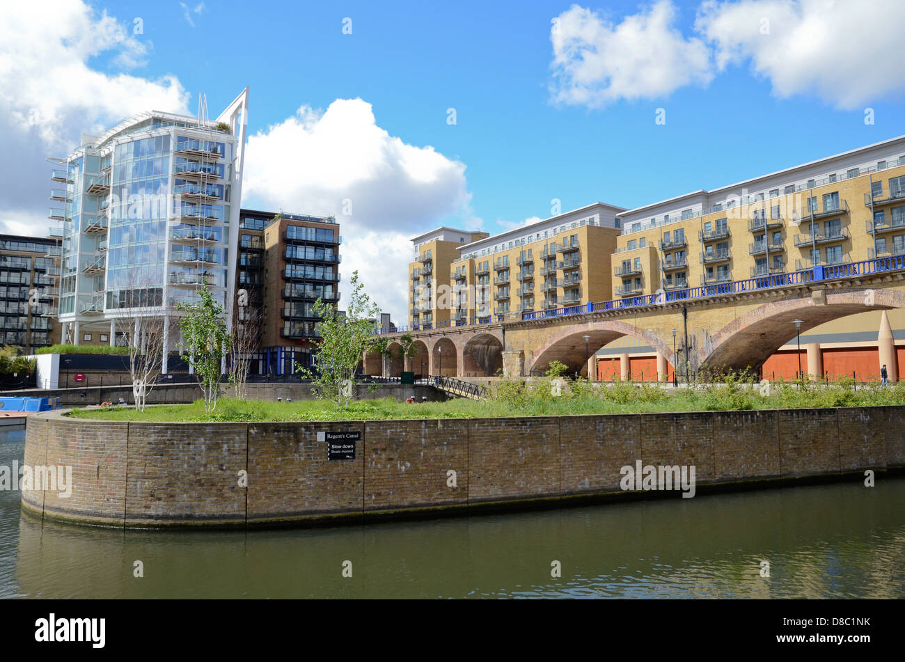 Limehouse Basin and Marina in the London Docklands - Stock Image