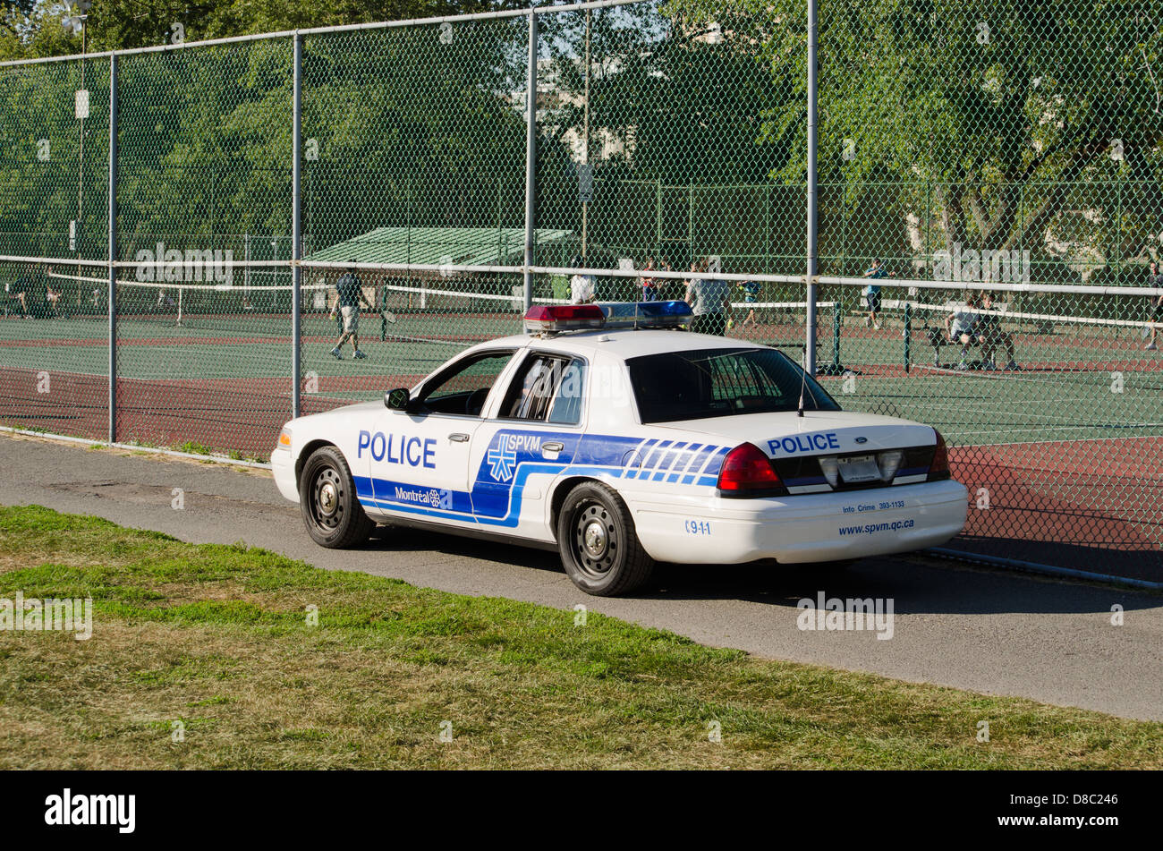 Police Car in Montreal Stock Photo
