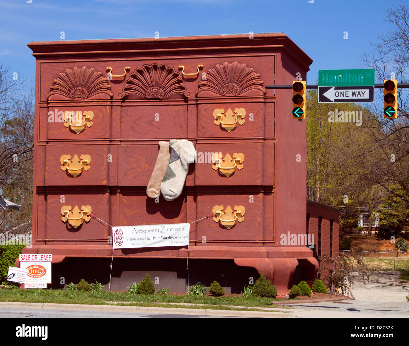 Giant Bureau in downtown High Point North Carolina - Stock Image